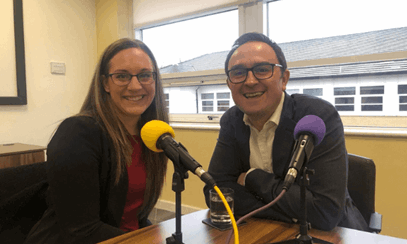 Emma Pownall, Marketing Director at Datel and Tom Cheesewright, Applied Futurist