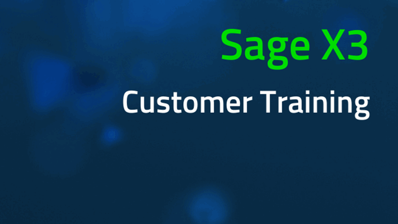 Sage X3 customer training