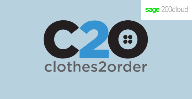 Clothes2Order logo and Sage 200 logo